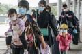 Travellers leaving Hong Kong for mainland China at the Shenzhen Bay border amid the fourth wave of the Covid-19 pandemic. Photo: Felix Wong