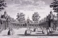 The Chinese pavilions in Vauxhall Gardens, London, in 1751. Photo: Getty Images