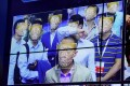 Megvii's facial recognition technology in action at the China Public Security Expo in 2017. Photo: Reuters