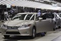 A Lexus ES sedan coming off Toyota's plant in Miyawaka city in southern Japan's Fukuoka prefecture on July 6, 2012. Photo: Reuters