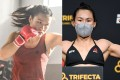 Zhang Weili and Yan Xiaonan are on a collision course in the UFC strawweight division. Photo: Xinhua (left), Jeff Bottari/Zuffa LLC (right)