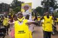 Supporters of Ugandan President Yoweri Museveni celebrate in Kampala. Photo: AP