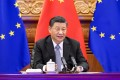 Xi Jinping meets with EU leaders via video link on December 30. Photo: Xinhua