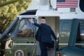 Donald Trump boards Marine One as he leaves departs the White House in Washington, on October 14, 2020. Photo: AFP