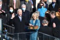 .Joe Biden is sworn in as the 46th President of the United States. Beside him is his wife, Jill. Photo: Xinhua