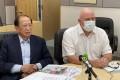 HKFA chairman Pui Kwan-kay and chief executive Paul Woodland, who left the top job in June 2020. Photo: Chan Kin-wa