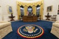 The Oval Office of the White House has been redecorated. Photo: AP