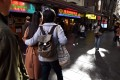 Chinese-Australians walking through the streets of Sydney's Chinatown Photo: AFP