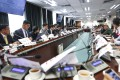 District councillors attend a meeting in Yuen Long last year. Photo: Winson Wong