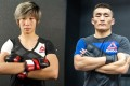 Na Liang (left) and Aori Qileng are the second and third China academy graduates to sign with the UFC. Photo: Handout