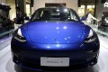 A China-made Tesla Model 3 electric vehicle on display at a car show in the southern city of Guangzhou. Photo: Reuters