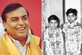 Mukesh Ambani, then and now – how he grew from a shy schoolboy into one of the world's richest men. Photo: @Jainpankajkasan/Twitter, @mukeshambaniofficial/Instagram