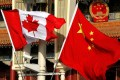 Canadian and Chinese flags. Photo: Reuters