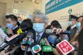 Macau's health chief, Dr Lei Chin-ion, briefs the media at a ceremony welcoming the arrival of the first batch of Sinopharm vaccines on Saturday. Photo: Macau Daily