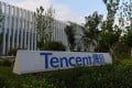 The headquarters of Tencent in Beijing on August 07, 2020. Photo: AFP