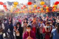 Worshippers make their first offerings of the Lunar New Year at Hong Kong's Wong Tai Sin Temple on Friday. Photo: Sam Tsang