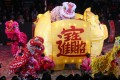 A lion dance performance is traditionally part of the annual Lunar New Year night parade, cancelled this year due to the pandemic. Photo: Edmond So