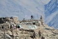 This photograph, provided by the Indian Army, purports to show Chinese troops dismantling their bunkers at Pangong Tso in Ladakh along the India-China border on Monday. China and India are pulling back frontline troops from disputed parts of their mountain border. Photo: Indian Army via AP