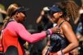 Serena Williams congratulates Naomi Osaka after their semi-final at the Australian Open in Melbourne. Photo: AFP
