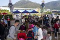 Crowds return to Ocean Park on February 18 as the theme park reopens with the easing of Covid-19 social distancing rules in Hong Kong. Photo: Sam Tsang