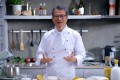 Hong Kong finance minister Paul Chan dresses as a chef for a video promoting the consultation period for the budget. Photo: Facebook