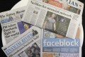 The Australian press reacts to Facebook's move. Photo: AP