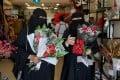 Women shop at a florist in Riyadh, Saudi Arabia. File photo: Reuters