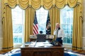 President Joe Biden talks on the phone in the Oval Office of the White House on January 22. The days of US allies giving Washington blank-cheque support are over. Photo: White House / Zuma Wire/ zumapress.com