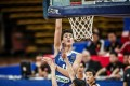 Filipino national youth team player Kai Sotto scores against Japan in 2017. Photo: Handout