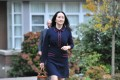 Huawei's chief financial officer Meng Wanzhou leaving her Vancouver home to appear in British Columbia Supreme Court, in Vancouver, British Columbia on October 27, 2020. Photo: AFP