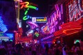 Soi Cowboy street in the Sukhumvit district of Bangkok, where much of the city's nightlife is concentrated. Photo: Getty Images