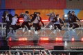 Members of K-pop band BTS perform in Central Park, New York City. File photo: Reuters