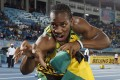 Sprinter Yohan Blake after Jamaica set a new world record in the 4x200-metre relay at the IAAF World Relays Championships in Nassau, Bahamas in 2014. Photo: Reuters