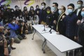 Pan-democrats hold a press briefing last month following the mass arrests. Photo: May Tse