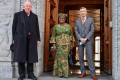 Ngozi Okonjo-Iweala with World Trade Organization (WTO) deputy directors general Alan Wolff (left) and Karl Brauner in Geneva on Monday. Photo: AFP