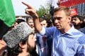 Russian opposition leader Alexei Navalny during an anti-Putin rally in 2018 in Moscow. Photo: AFP