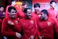 International footballers Oscar, Ricardo Carvalho and Hulk attend the Shanghai SIPG season launch in Shanghai in 2017. Photo: Reuters
