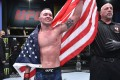 Colby Covington celebrates after his TKO victory over Tyron Woodley. Photo: Chris Unger/Zuffa LLC