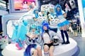Cosplayers perform at the Bilibili stand during ChinaJoy at Shanghai New International Expo Center, China, on July 31, 2020. Photo: Getty Images