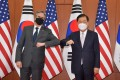 US Secretary of State Antony Blinken and South Korean Foreign Minister Chung Eui-yong in Seoul. Photo: EPA