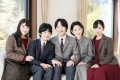 Prince Akishino, centre, is next in line for Japan's royal crown, with Prince Hisahito, second left, the ultimate heir. Photo: AFP