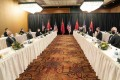 The two-day meeting is being held at a hotel in Anchorage, Alaska. Photo: Xinhua