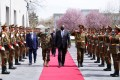 US Secretary of Defence Lloyd Austin during his visit in Kabul, Afghanistan on Sunday. Photo: Presidential Palace / Reuters