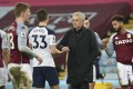 Tottenham manager Jose Mourinho was able to cap a dreadful week with a win against Aston Villa. Photo: AP