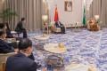 Saudi Crown Prince Mohammed bin Salman meets Chinese Foreign Minister Wang Yi in Riyadh, Saudi Arabia, on Wednesday. Photo Saudi Royal Court/Reuters