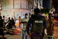 Police secure a site after a suspected bomb blast injured former Maldives president Mohamed Nasheed. Photo: AFP