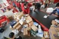 Workers are seen sorting out packages for delivery at JD Logistics' Yizhuang smart delivery station in Beijing during last year's November 11 Singles' Day shopping gala. Photo: Simon Song