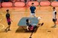 Hong Kong Teqball players Wong Chun-kit and Mok Chung-pan against Yeung Chung-hei vs Leung Chuk-hei in the Teqball Hong Kong Challenge Cup 2021 mixed doubles finals in Mong Kok in May. Photo: Hong Kong Teqball Association