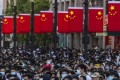 People walk to the Bund during Labour Day in Shanghai on May 1. Photo: EPA-EFE