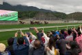 Fans watch racing at Conghua in March 2019. Photo: Noel Prentice